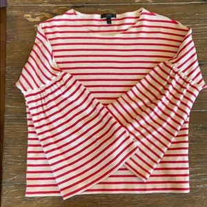 J Crew Striped Bell Sleeve Top. Size Small